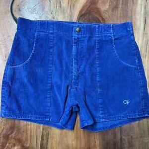 Vintage Op Ocean Pacific OP Cord Shorts Men's 34 Blue Cotton Blend Corduroy G23