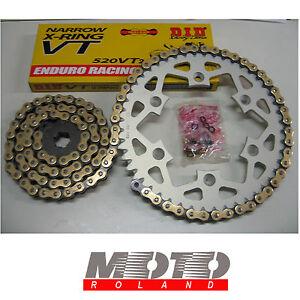 KIT TRASMISSIONE CATENA KTM 660 SMC '03-'06 ERGAL DID 520 VT2 X-RING ORO RACING
