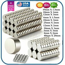 Super Strong N35 Round Disc Neodymium Mini Fridge Magnets Rare Earth 5~100 PCS