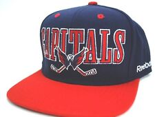 ff3caedb362 Washington Capitals Reebok NF94Z NHL Cross Stick Logo Snapback Hockey Cap  Hat