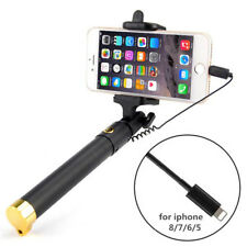 KIT SELFIE TELECOMANDO ASTA BRACCIO ALLUNGABILE per Apple iPhone SE 6 7 8 e PLUS