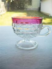 Indiana Glass Whitehall Ruby Rimmed Punch Cup, Excellent Condition