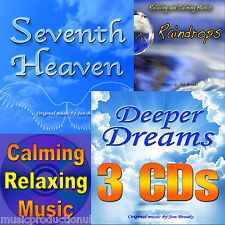 3 Music CDs - Relaxing Music for Stress, Anxiety, Meditation, Yoga and Panic
