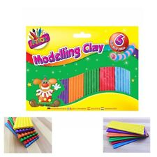 6 Strip Kids Modelling Clay Set Plasticine Non Toxic Play Craft & Create 3+Years
