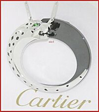 CARTIER PANTHER 18kWG TSAVORITE ONYX BLACK LACQUER CERAMIC DOUBLE SIDE NECKLACE
