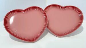 Le Creuset Heart Plates set for 2 dinner plates,  23cm