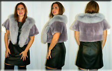 New Lilac Sheared Beaver Fur Bolero Cape Size Medium 6 8 M Efurs4less