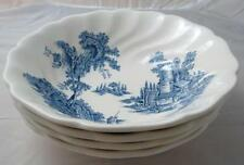 Johnson Brothers THE OLD MILL - BLUE 4 cereal bowls light use & light scratches