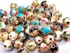 CLOISONNE 8mm Spacer Beads Necklace Bracelet Jewellery Making Craft Findings 50