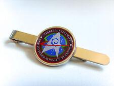 STAR trek Starfleet sicurezza BADGE TIE diapositiva Grip PIN bar regalo