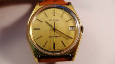 BUREN GOLD PLATED QUARTZ Vintage Watch