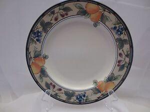 "Mikasa GARDEN HARVEST Intaglio Chop Plate Large Round Platter #CAC29 Fruit 13"""