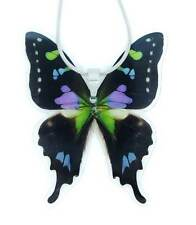 Real Handmade Butterfly Wing Necklace - Purple Butterfly Wing Jewelry