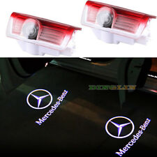 2 For Mercedes- Benz LED Car Step Logo Welcome Light Door Shadow Laser Projector