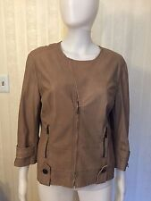 St. John Lightweight  Leather Jacket Size 8