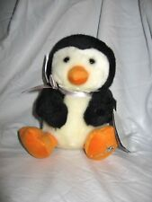 "Russ Berrie Shining Stars Penguin Black and White Plush New 8"""