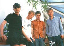 BLUR RARE  Fan Club/ Promotional Photograph Colour Picture