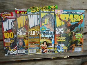 LOT OF 5 WIZARD MAGAZINES - NEW  3 SHIRINKWRAPPED  2 NOT  103  104 121  123 131
