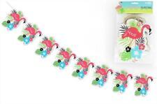 Flamingo Paper Garland Bunting Party Decoration Hawaiian Theme