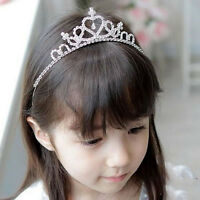 New Rhinestone Princess Crown Tiara Headband Hair Band Wedding Prom For Kid Girl
