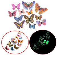 12pcs 3D Butterfly Design Decal Art Wall Stickers Room Magnetic Home Decoration