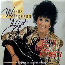 WANDA JACKSON let's have a party CD dédicadé ROCK'N'ROLL