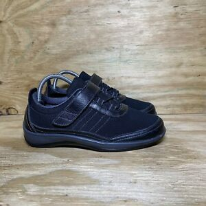 OrthoFeet Breeze Stretch Knit Comfort Shoes 835 Women's 8.5 Wide(D) Black