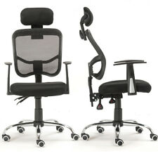 New Ergonomic Mesh High Back Executive Computer Home Office Chair Black Headrest