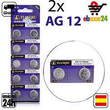 2x AG12 PILAS pila de botón baterías boton bateria AG 12 386A LR43 SR43 386 SR11