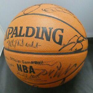 1998-99 Milwaukee Bucks Ray Allen George Karl Team Signed Ball Full JSA Letter