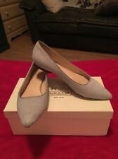 WOMEN'S COLE HAAN MAGNOLIA DYED CALF-HAIR LEATHER UPPER SKIMMER FLAT SAMPLE 6B