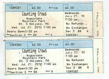 2 untorn counting crows tickets augustant park july 21, 2010