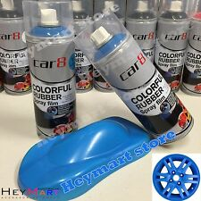 1x Matt Blue Rubber Paint KMS Plasti dip Removable Wheel Rim Spray Rubber Coat