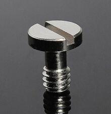 "1/4"" Metal Screw for DSLR Digital Camera Tripod Monopod Quick Release (QR) Plate"