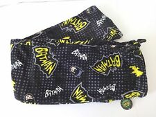 "MENS BATMAN FLUFFY FLEECE LOUNGE PAJAMA PANTS SIZE MEDIUM 32"" TO 34"" WAIST"