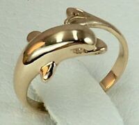 Vintage Original Rose Gold 585 14K Ring, Chic Rose Gold Ring 585 14K