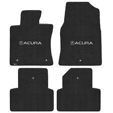 Tl 2009-2013 4Pc Car Floor Mats Carpet Black Ebony Ultimat Acura A Logo