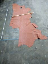 Italian Cowhide leather cow skin salmon orange 17 sq.ft 4oz Rack#16