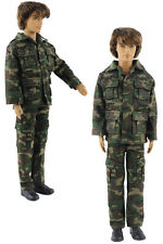 Military-style camouflage clothing/Outfit/Tops+Pants For Barbie's BF Ken B33