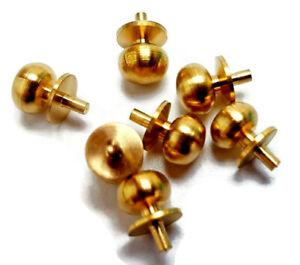 Dolls House Door Knobs Solid Brass 1:12 Miniature Handle 4, 6, 10, 12, 24 Knobs