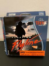 Jim Teeny Fly Line, Spey Double-Hand Salmon Float, Lt. Blue/Salmon, New with Dvd