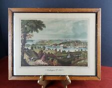 Antique Art Print Washington from Beyond the Navy Yard 1833 D.C. Cooke dc city