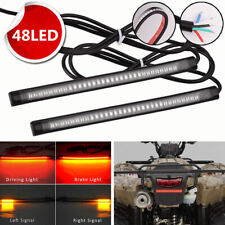 2x Flexible Motorcycle LED Strip 48LED Tail Brake Stop Turn Signal Running Light