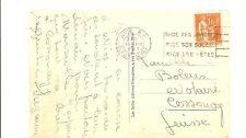 FRANCE carte postale 1937 de NICE pour la SUISSE type PAIX tarif 1 franc