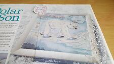Cross stitch chart Polar fils tableau Polar Bear Arctic tableau
