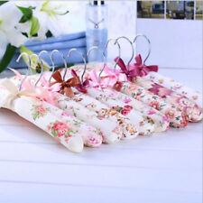 6,8x Coat Hanger Satin Padded Bridal Lingerie Hangers Coat Clothes Dress Garment