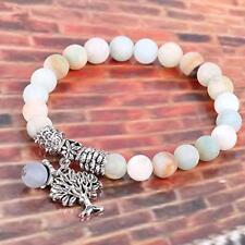 Frauen Männer Trend Silber Lebensbaum Naturstein Perlen Charms Armbänder Schmuck