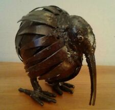 "BRUTALIST KIWI Black Patentated Finish Sculpture Welded Metal  Size 5""W x 4 1/2"""