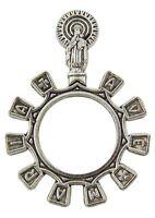 Hail Mary Ave Maria Zinc Alloy Prayer Bead One Decade Rosary Ring
