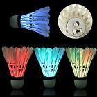 4x Dark Night Colorful LED Lighting Sport Feather Birdies Badminton ShuttlecockF